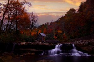 Fall-sunset-gristmill_-_Virginia_-_ForestWander